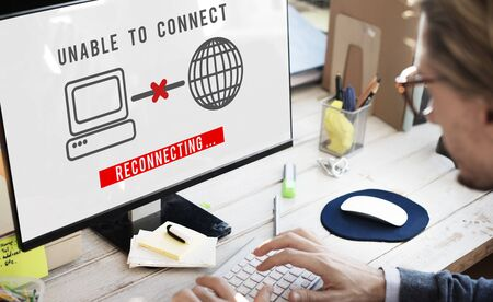 Impossible Erreur Échec Connecter Déconnecter problème Concept Banque d'images - 59233729