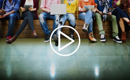 audio video: Play Media Audio Video Music Concept