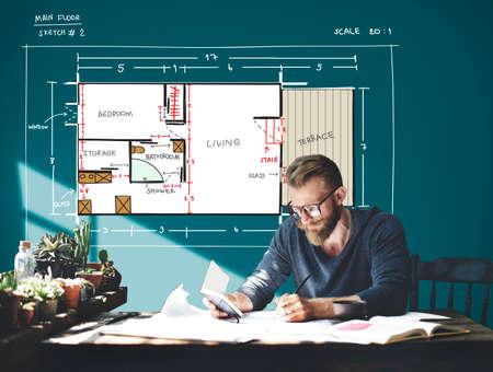 Blueprint architecture interior design structure development stock blueprint architecture interior design structure development concept stock photo 59233892 malvernweather Images