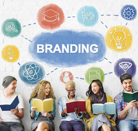 Branding Creative Brand Business Graphic Concept Banco de Imagens