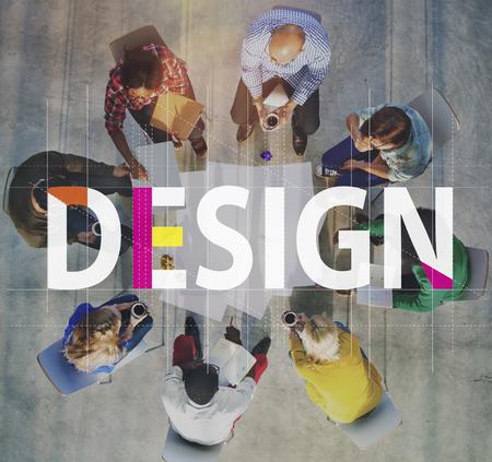 創造的なアイデアの人々 グラフィック コンセプト 写真素材