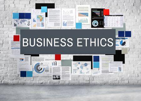 gobierno corporativo: Business Ethnics Corporate Social Responsibility Concept