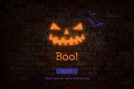 All Saints Eve Boo Halloween Icon Concept
