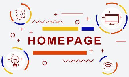 Homepage Website Blogging Browser Concept 스톡 콘텐츠