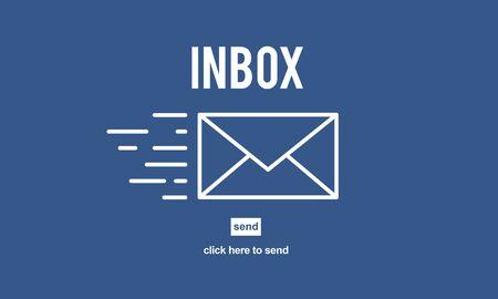 correspondence: Correspondencia por correo electr�nico envelpoe Buz�n de mensaje Concept