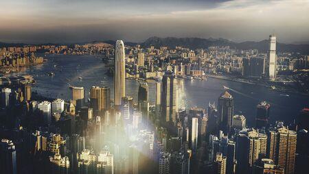 famous place: Cityscape Building Landmark Famous Place Concept
