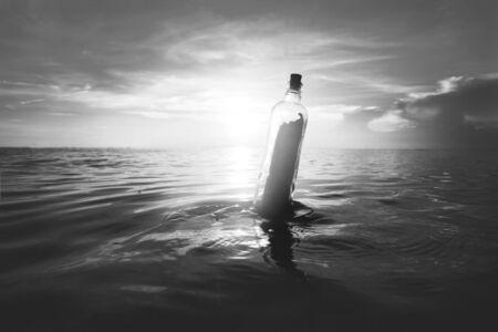 message bottle: Message Bottle Communication Tranquil Letter Concept