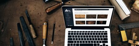 craftmanship: Carpenter Craftmanship Handicraft Wooden Workshop Concept Stock Photo