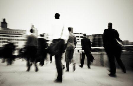 mundane: Businessmen Walking To Their Workplace Concept