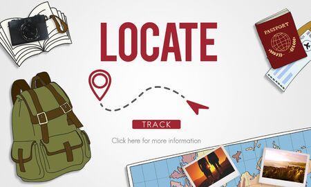 locator: Navigation GPS City Locator Explore Concept