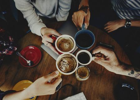 커피 숍 카페 레스토랑 라떼 카푸치노 컨셉