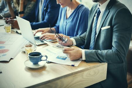 Business People Meeting Working Professional Concept Stock Photo