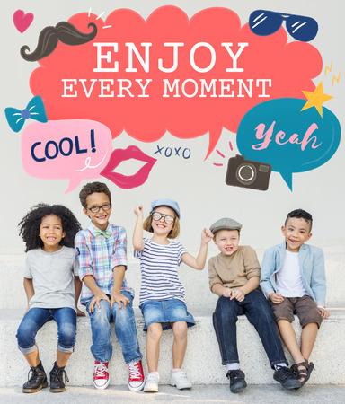 Kids Casual Joyful Independant Graphic Concept