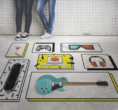 urban culture: Hobby Free Time Leisure Media Concept Stock Photo