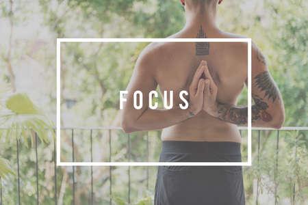 determine: Focus Concentrate Determine Focal Point Target Concept