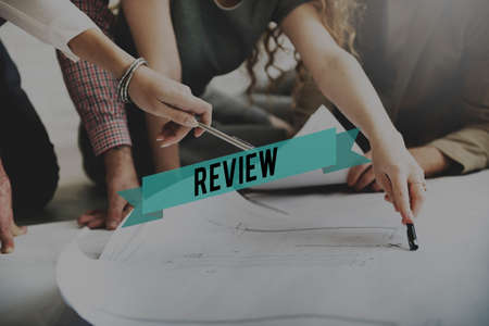 auditing: Review Reviewer Reviewing Auditing Evaluate Concept Stock Photo