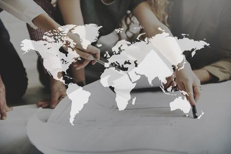 Mapa świata Globalizacja Kartografia Geografia koncepcji połączenia
