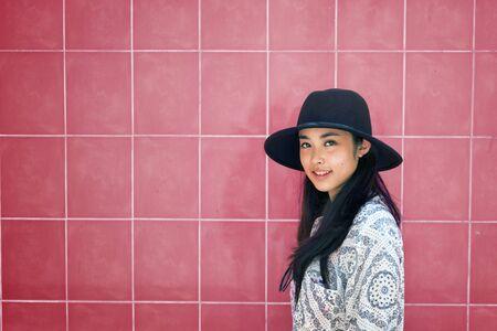 adolescence: Chica fondo adolescencia calma concepto de ocio ocasional