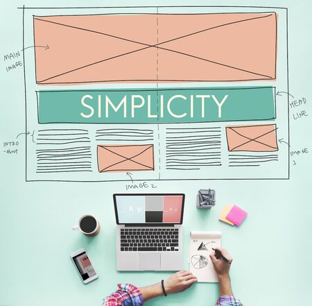 normal: Simplicity Clean Clear Minimal Normal Simple Concept Stock Photo