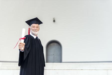 academic achievement: Academic Achievement Certificate Cheerful Concept Stock Photo