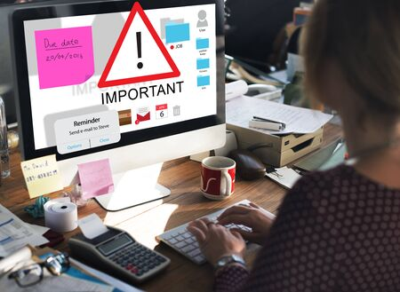significant: Important Importance Priority Significant Remind Concept Stock Photo