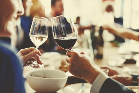 Mensen juichen Celebration Toast Hughiness Saamhorigheid Concept