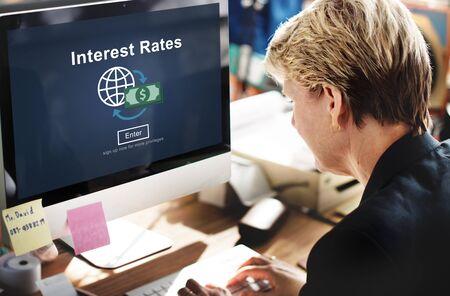 interest rates: Interest Rates Economy Financial Percentage Concept