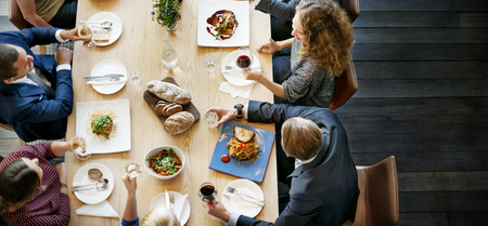 Business People Lunch Celebration Together Corporate Concept Stock Photo