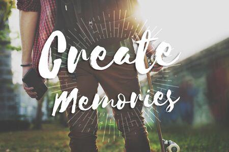 Create Memories Happiness Enjoyment Concept Imagens