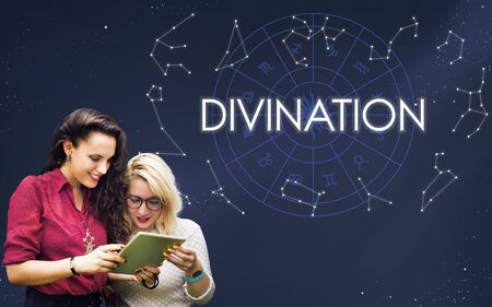 belief: Divination Divine Belief Faith Fortune Holy Mystic Concept