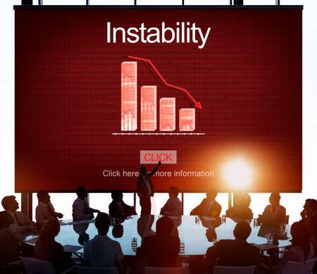 collapse: Reducir la inestabilidad Depresión La caída de frustración concepto Foto de archivo