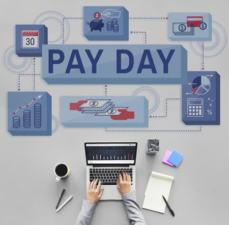 salarios: Pay Day Salary Income Paycheck Wages Payments Concept