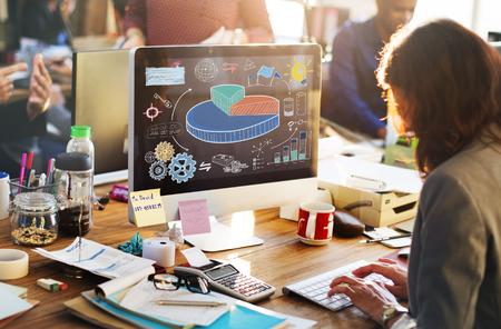 market share: Business Pie Chart Market Share Concept