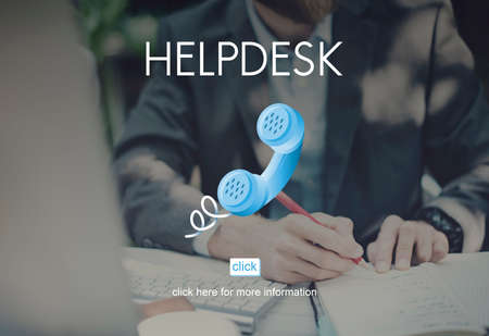 Help Desk Helping Assistance Advice Support Concept Stock Photo