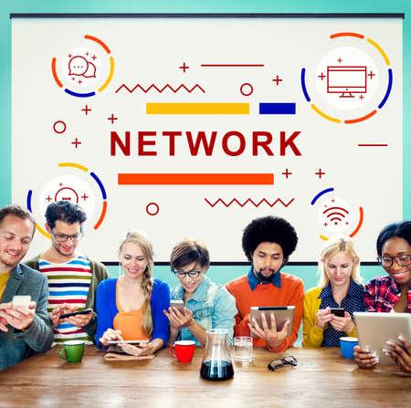 diversity domain: Network Connection internet Social Network Concept