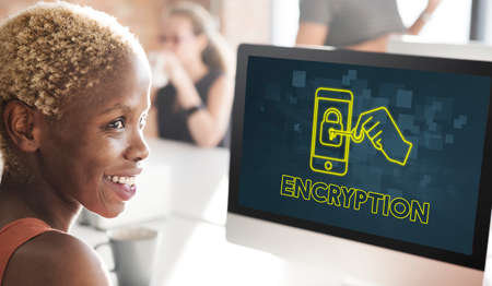 encryption: Encryption Online Network Technology Graphic Concept
