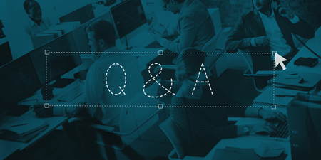 qa: Q&A Question Answer Communication Explanation Concept