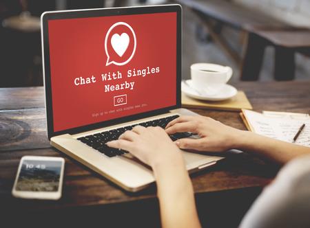 Chat avec SINGLES à proximité Concept Amour Romantisme en ligne