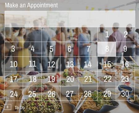 Haga una cita s Calendario de planificación concepto Organización Foto de archivo - 59635065