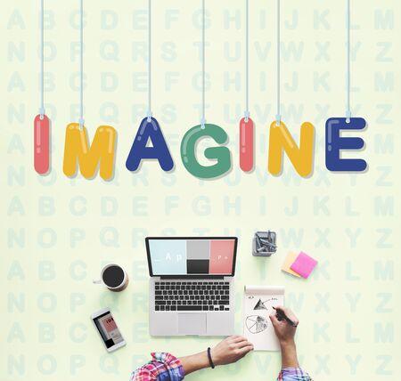 envision: Imagine Creative Ideas Thinking Vision Dream Concept