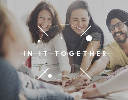 empower: Group In It Together Empower Organization Cooperation Concept
