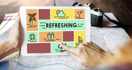 revive: Refreshing Refreshment Renew Rethink Restart Concept