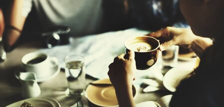 enjoyment: Cafe Coffee Enjoyment Happiness Relaxation Concept