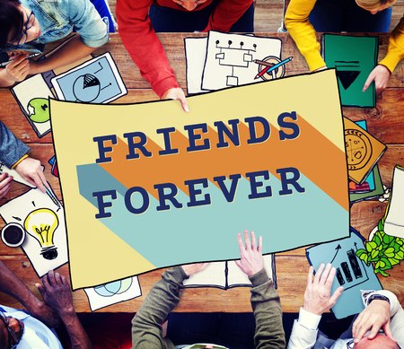 forever: Friends Forever Community Partnership Unity Concept Stock Photo