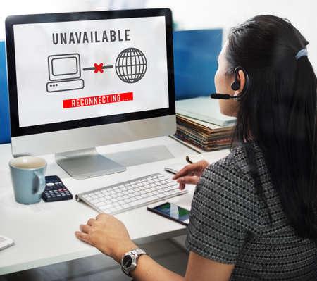 unavailable: Unavailable Denied Disconnected Error Problem Concept Stock Photo