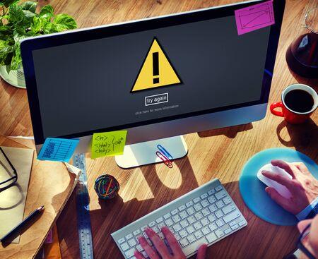 threat: Warning Problem Spam Threat Online Website Concept