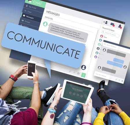 comunicar: Concepto comunicarse comunicaci�n conversaci�n