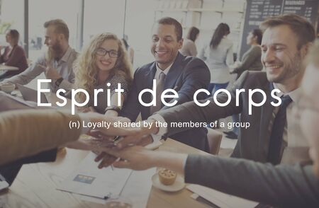 Esprit De Corps Group Loyalty People Graphic Concept Stock Photo