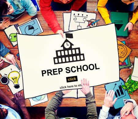 academy: Prep School Education Preparation Academy Concept