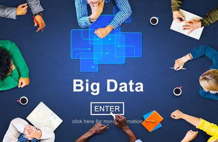 shared sharing: Big Data Storage Online Internet Memory Data Concept Stock Photo